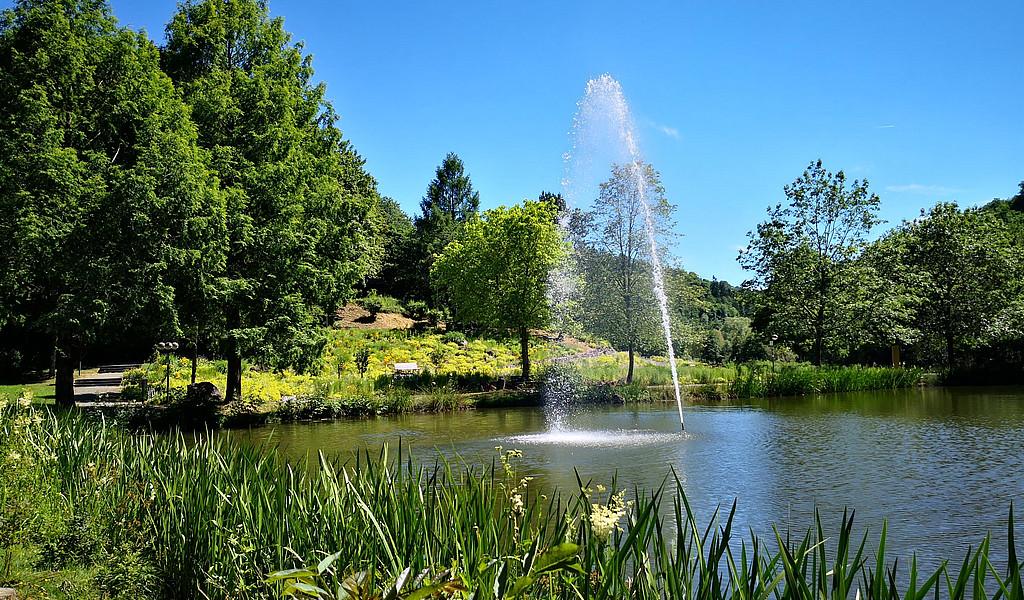 Wasserfontäne im Kurpark Daun