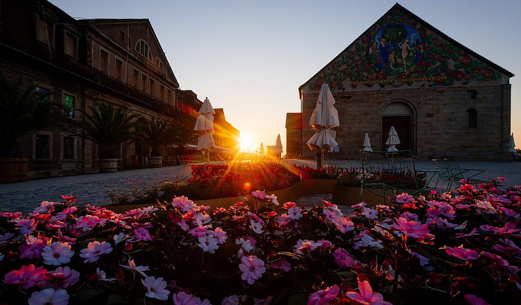 Bundesgartenschau Erfurt: Sonnenaufgang auf dem Petersberg
