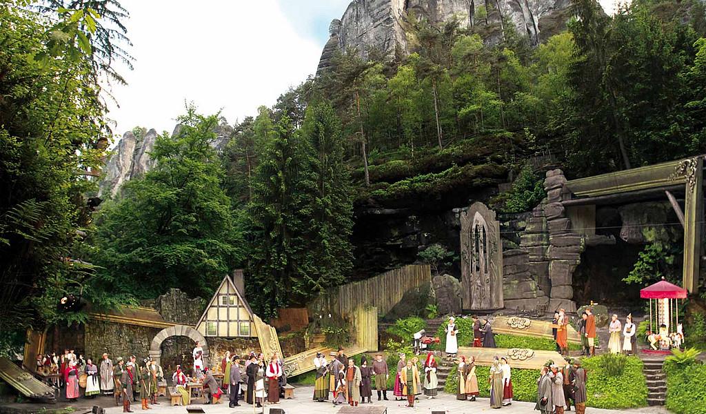 Die Felsenbühne Rathen gehört zu den schönsten Freilichtbühnen Europas.