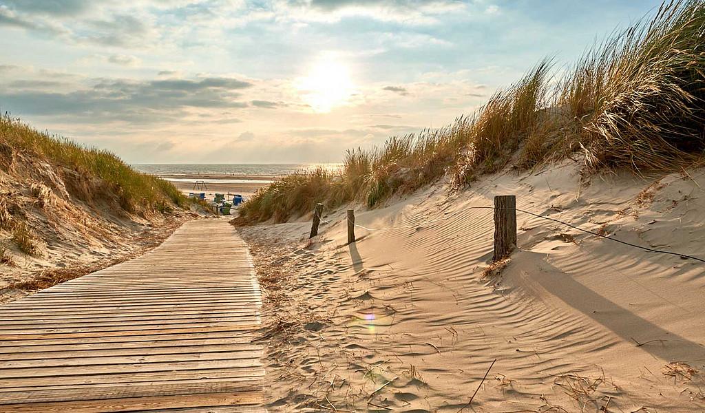 Barrierefreier Zugang zum Strand auf Langeoog.