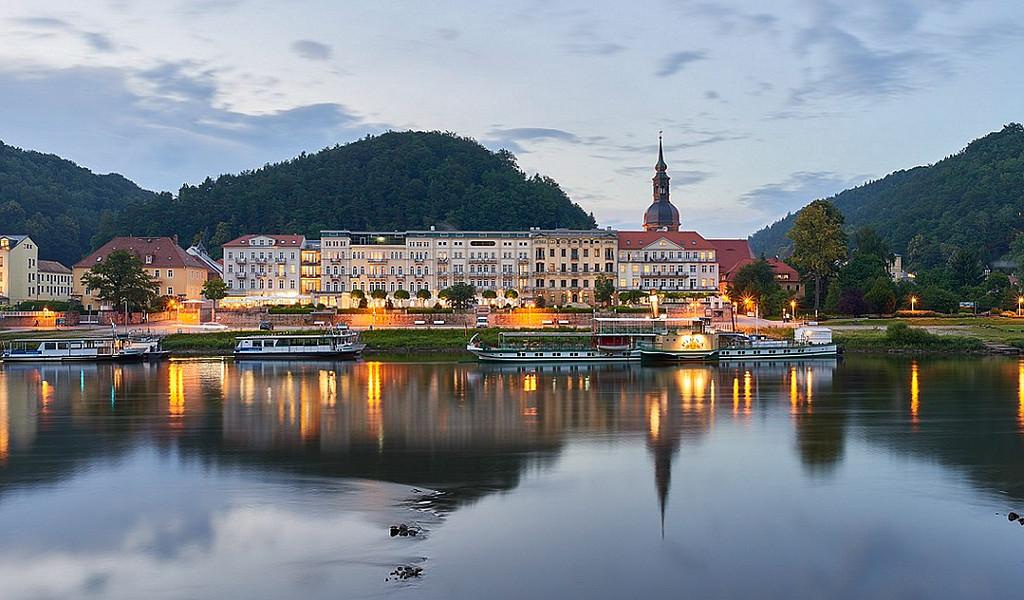 Das Hotel Elbresidenz liegt malerisch an der Elbe.
