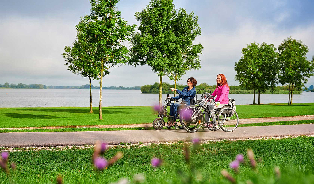 Die Handbike-Tour um den Altmühlsee ist 13 Kilometer lang.