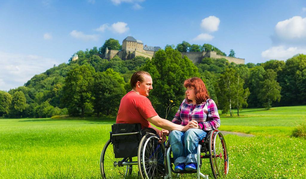 Die Festung Königstein ist für Rollstuhlfahrer über einen Aufzug zu erreichen.