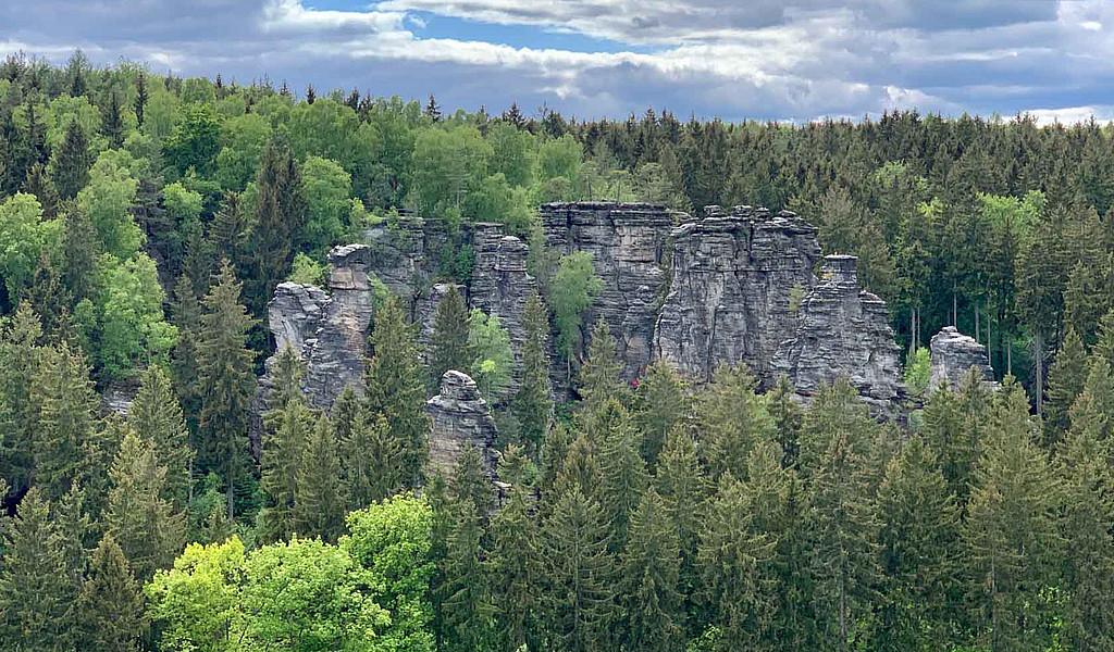 Das Bielatal in der Sächsischen Schweiz ist für seine bizarren Kletterfelsen bekannt.