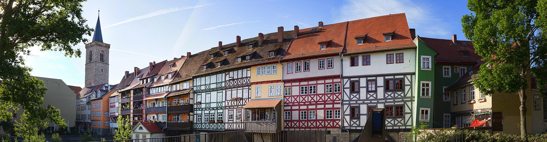 Blick auf die Krämerbrücke in Erfurt.